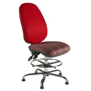 C/BIMPD Chrome Frame Draughtsman Chair