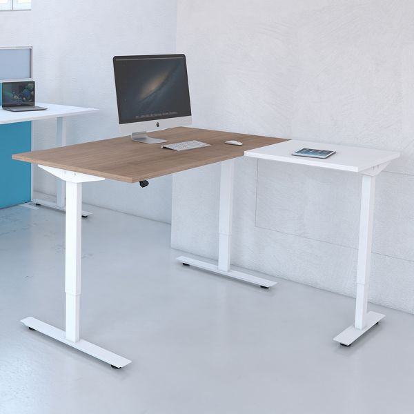 Freedom Lite Sit/Stand 2 Piece Radial Desk