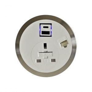 Port-EI In Desk Power Module G561 Data & Fast Charge