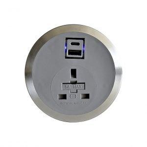 Port-EI In Desk Power Module G650 Power & USB Smart Charge