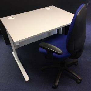 1000x800mm Desk And Task Chair Set Home Office In A Box