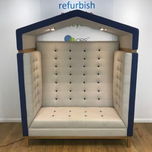 Recycled Frovi Jig Arbour Blue & Cream 2 Seater Huddle Pod