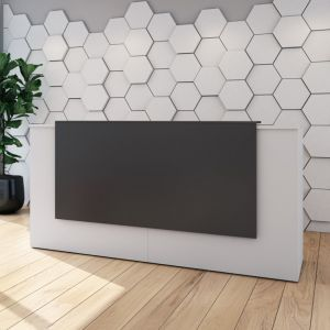 Modern Allure Straight Reception Counter With Overhang