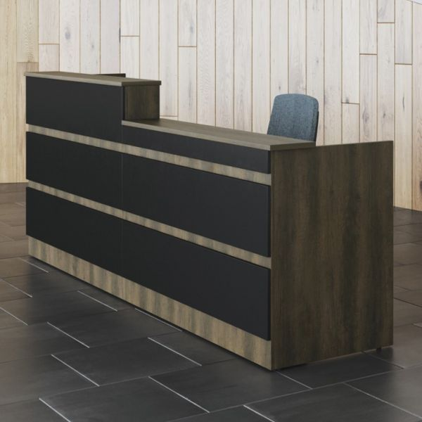 Straight Reception Counter With Horizontal Panels Allure New
