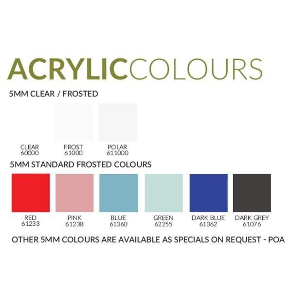 Acrylic Colour Options