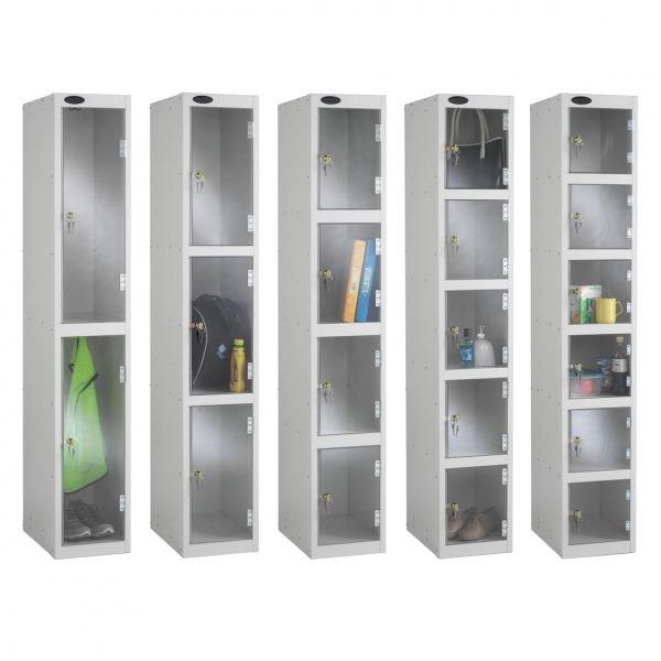 Full Clear Door Probe Lockers