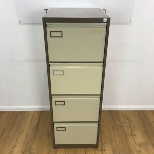 Filing Cabinet Preloved 4 Drawer Coffee And Cream