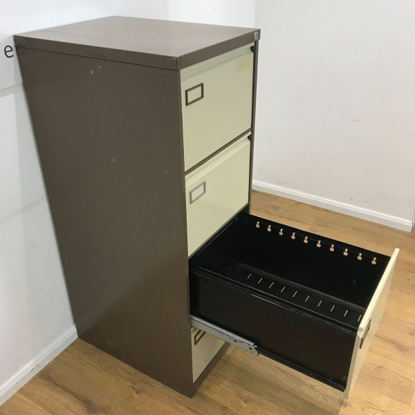 Coffee And Cream 4 Drawer Filing Cabinet