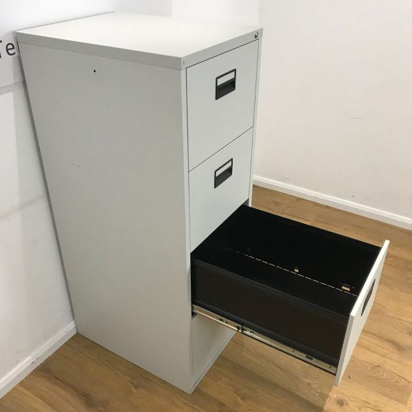 Filing Cabinet Light Grey 4 Drawer