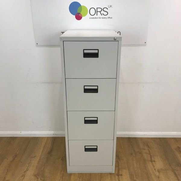 Light Grey 4 Drawer Filing Cabinet