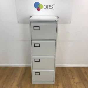 Grey Preloved 4 Drawer Bisley AOC Filing Cabinet