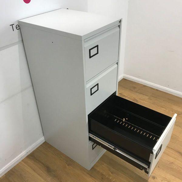 Bisley AOC Grey 4 Drawer Filing Cabinet