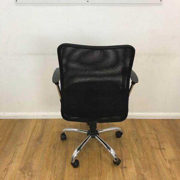 chair with chrome base