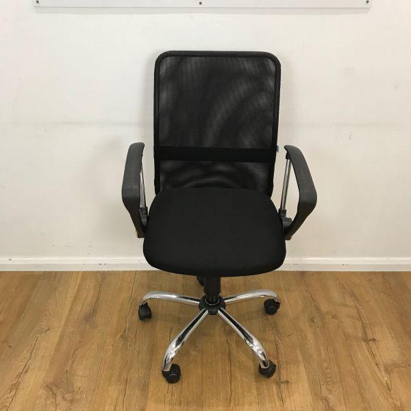 Black mesh used chair
