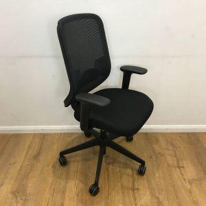 Second Hand Ergonomic Black Mesh Orangebox Chair