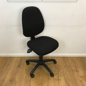 Used Black Task Chair No Arms