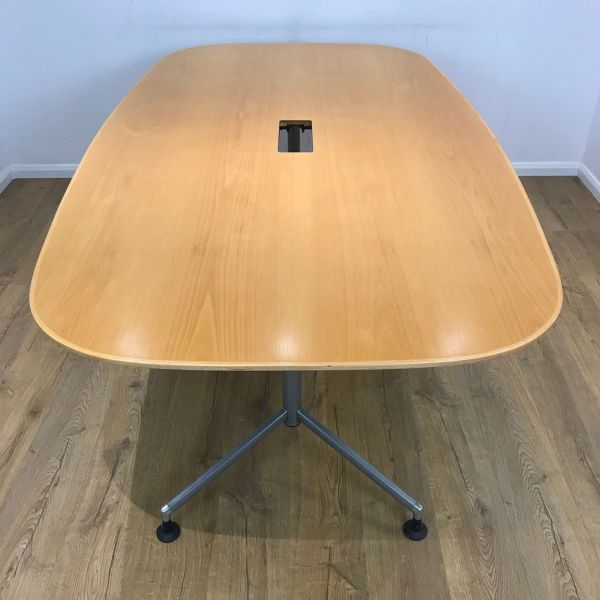 Boatshaped Table Oak Veneer 2100mm