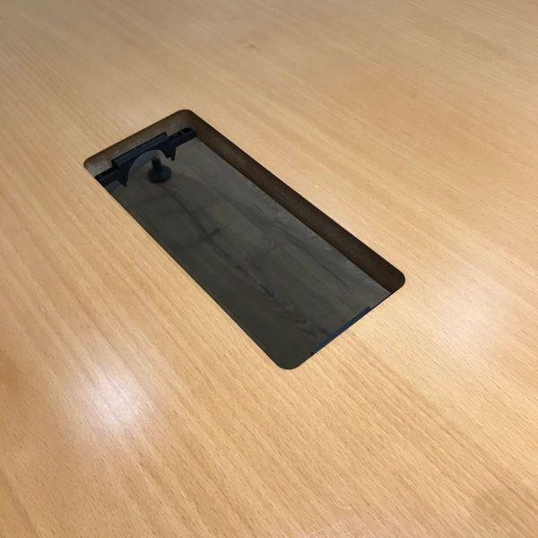 Oak Veneer 1200mm Boatshaped Table