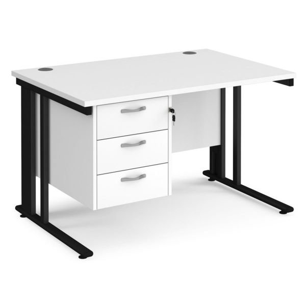 cable managed desk fixed pedestal