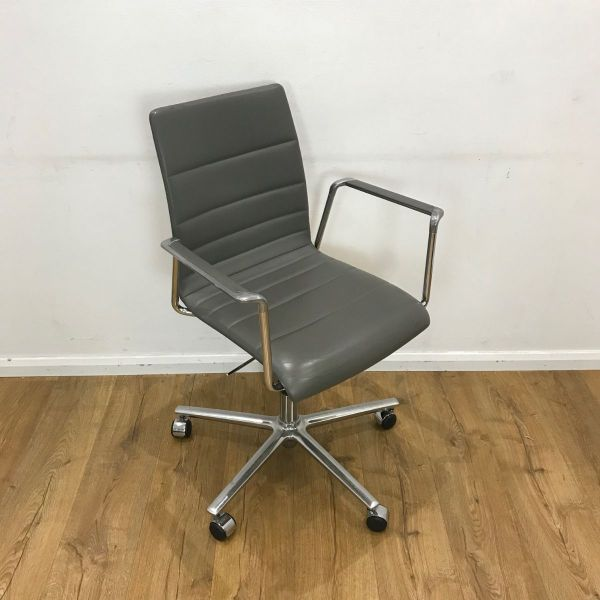 used brunner grey leather
