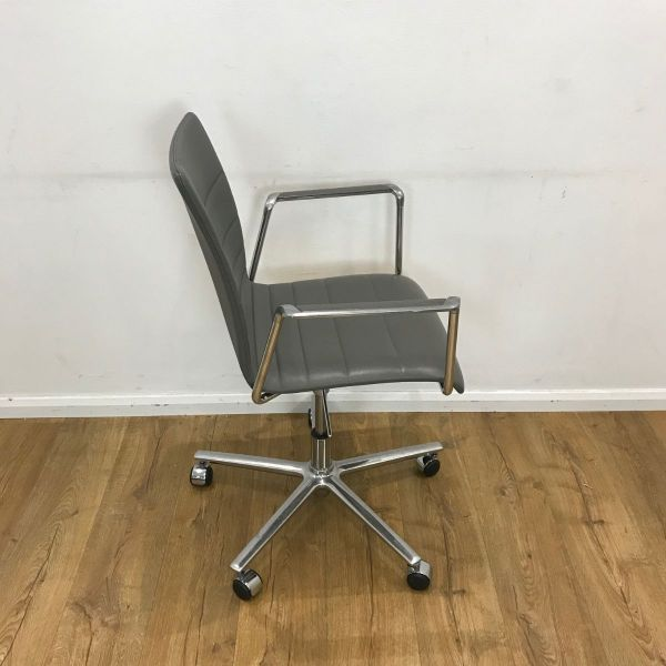 grey leather used chair