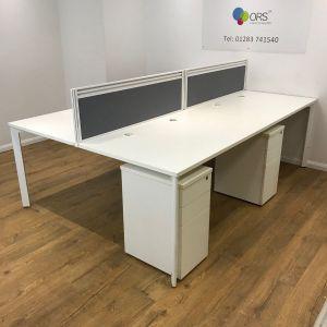 white sven desk