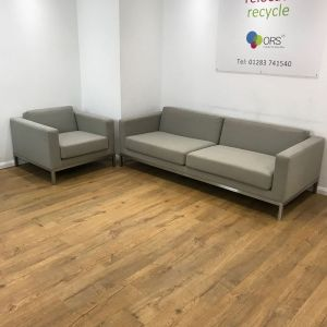 used reception seating grey