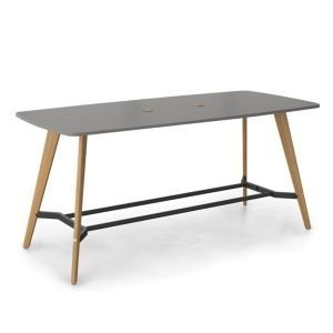 LPS2411-WP Evolve boatshaped poseur table