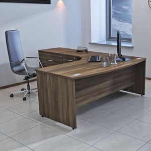 sirius bowfronted panel end desk