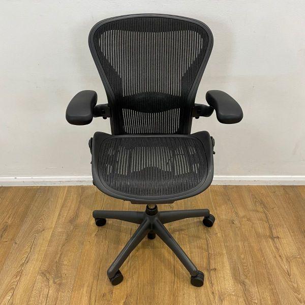 graphite used aeron chair