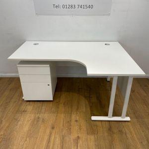 used white radial desk