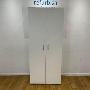 white MFC storage cupboard