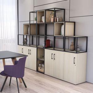 Matrix storage cupboard grid